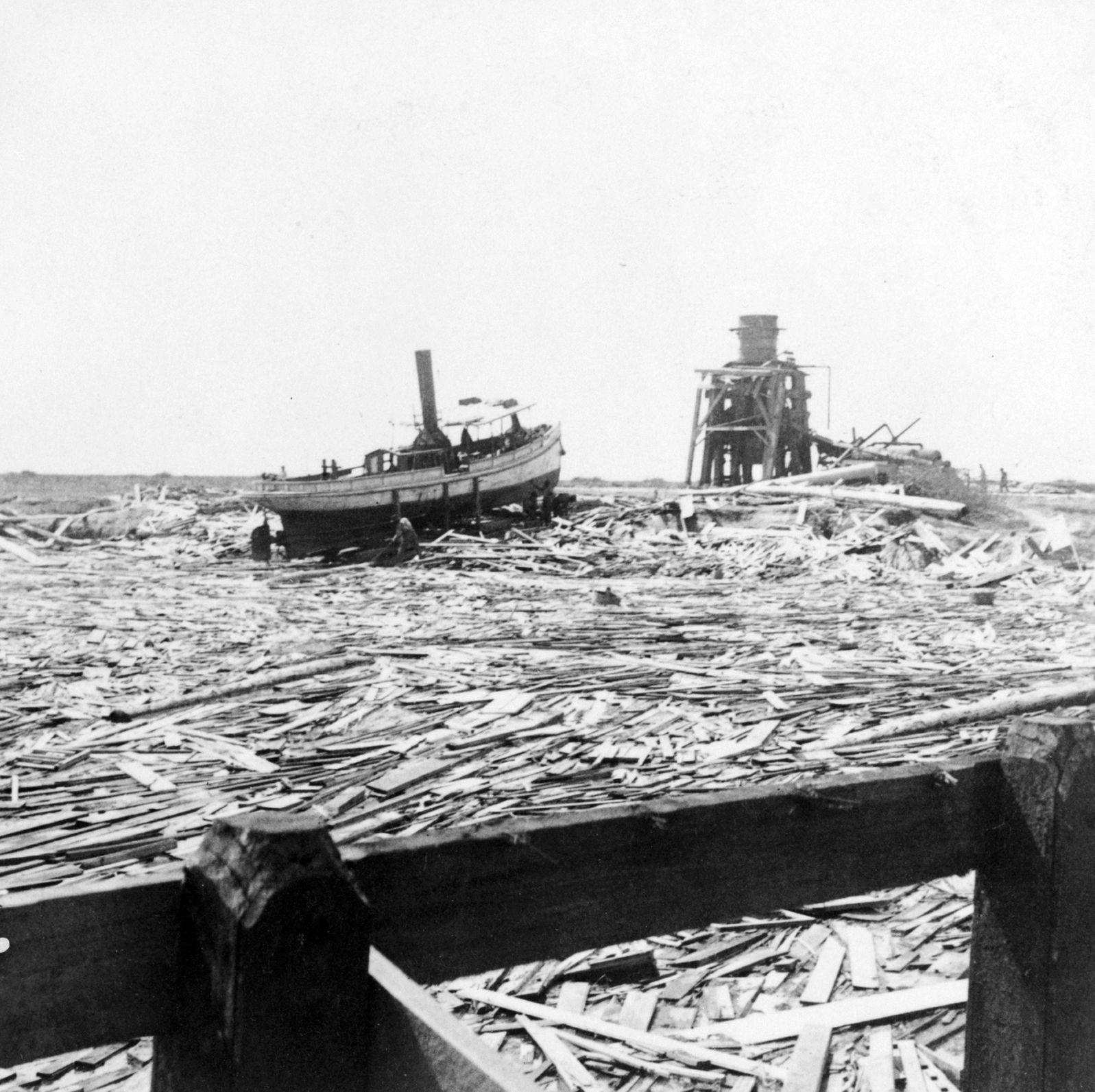 Галвестон после урагана 1900 года