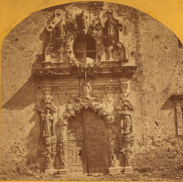 Window. Mission San-Jose-de-Aguayo, by Doerr и Jacobson. Robert N. Dennis