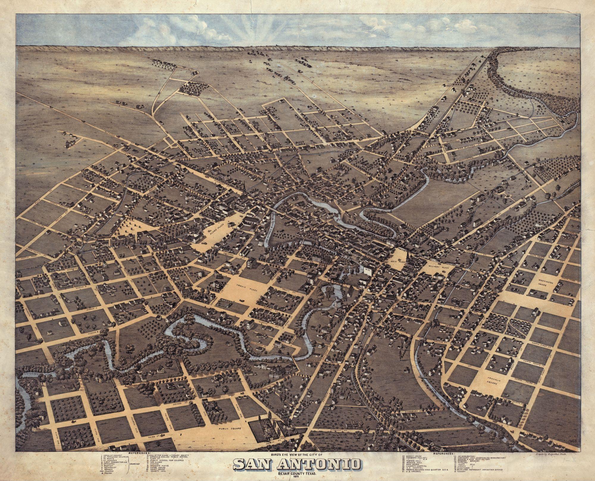 Карта Сан-Антонио