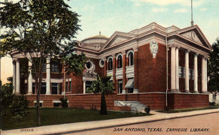 San-Antonio, Texas. Carnegie Library