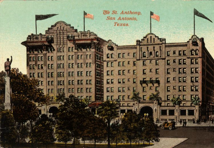 St. Anthony Hotel, San-Antonio, Texas, 1913