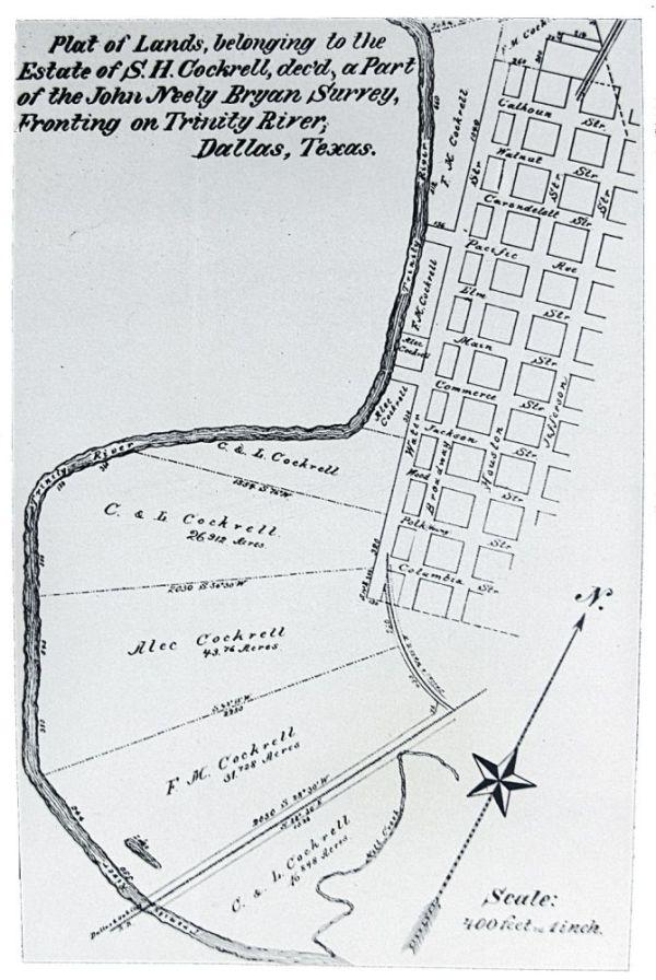 Карта Далласа 1871