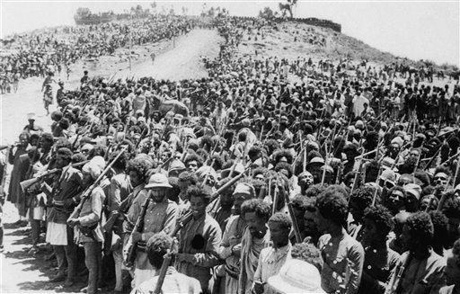 Эфиопская армия перед битвой
