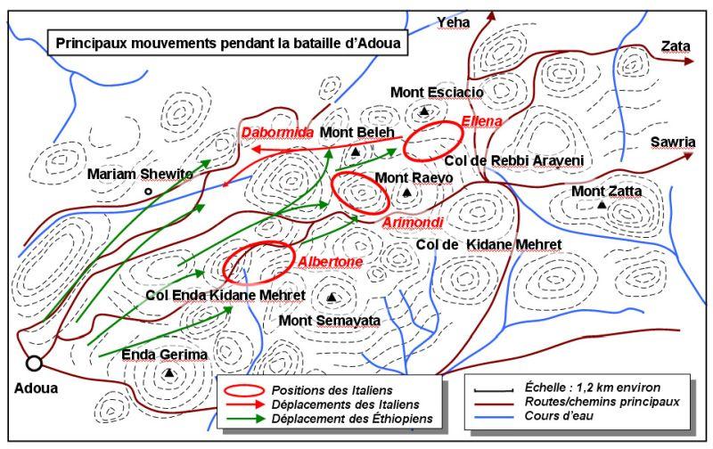 Фактическое положение итальянских колон на 8 часов утра.