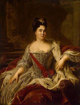 Портрет Екатерины I. Ж.-М. Натье(1717 г.)