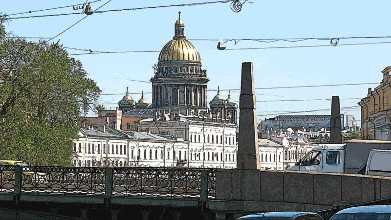 Поцелуев мост и Исаакиевский собор