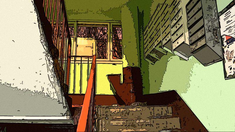 Лестница старого нового дома, СПб.