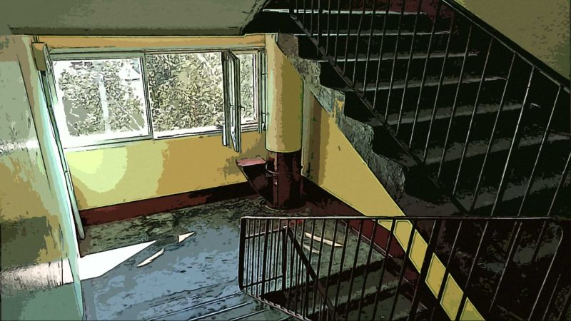 Лестница дома. СПб.