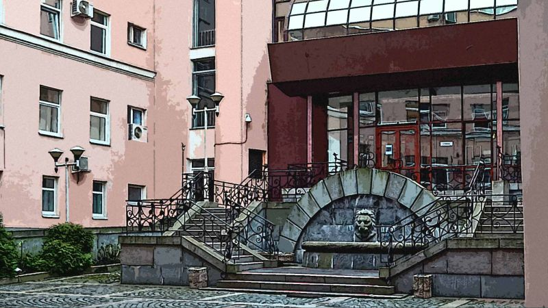 Санкт-Петербург, двор медучереждения на Садовой