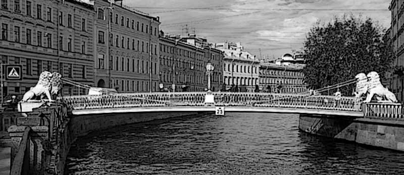 львиный мост СПб