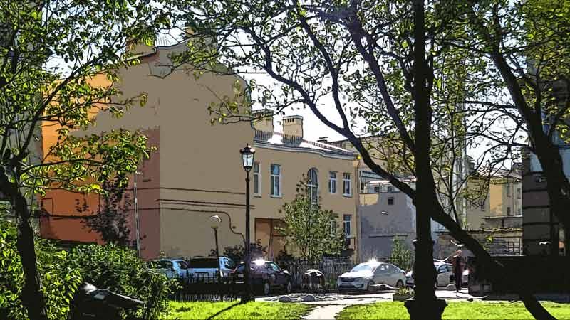 СПб, сквер на Петроградской стороне