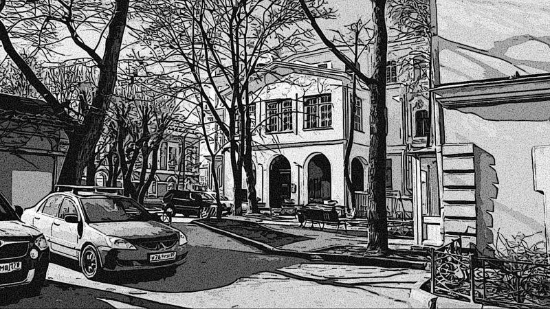 Двор библ. Маяковского